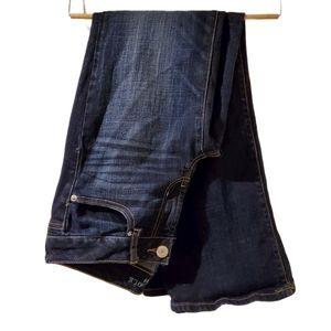AEO Favorite Boyfriend dark wash jeans 6 short